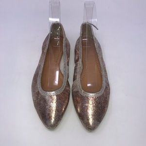 Frye Shoes Regina Ballet Flats Gold Size 6.5